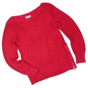 Calvin Klein Chunky Knit Side Zipper Sweater
